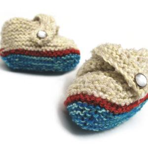 Antonio | Escarpines para bebé | Baby Handmade Booties | Olga y Pepe, Costa Rica