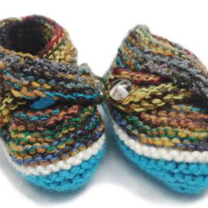 Brunilda | Pantuflas para bebé - Baby Handmade Booties | Olga y Pepe, Costa Rica